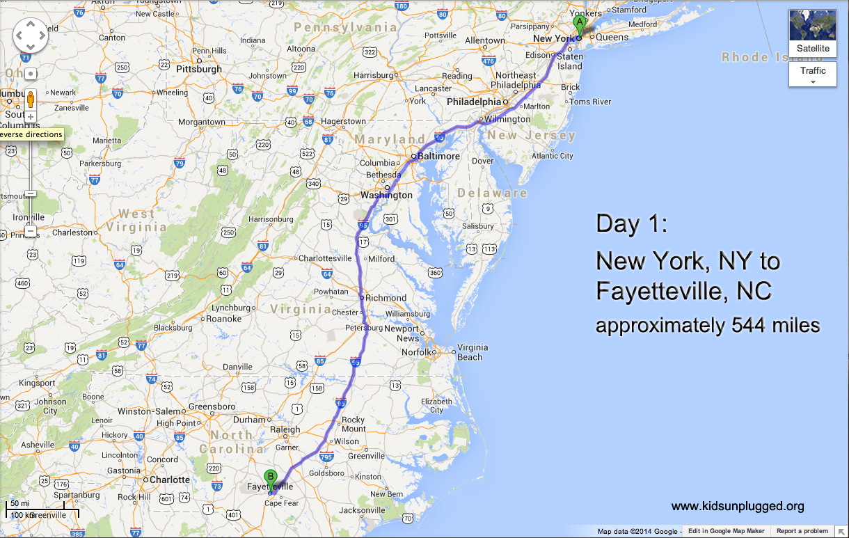 Distance From New York To Washington Dc By Car