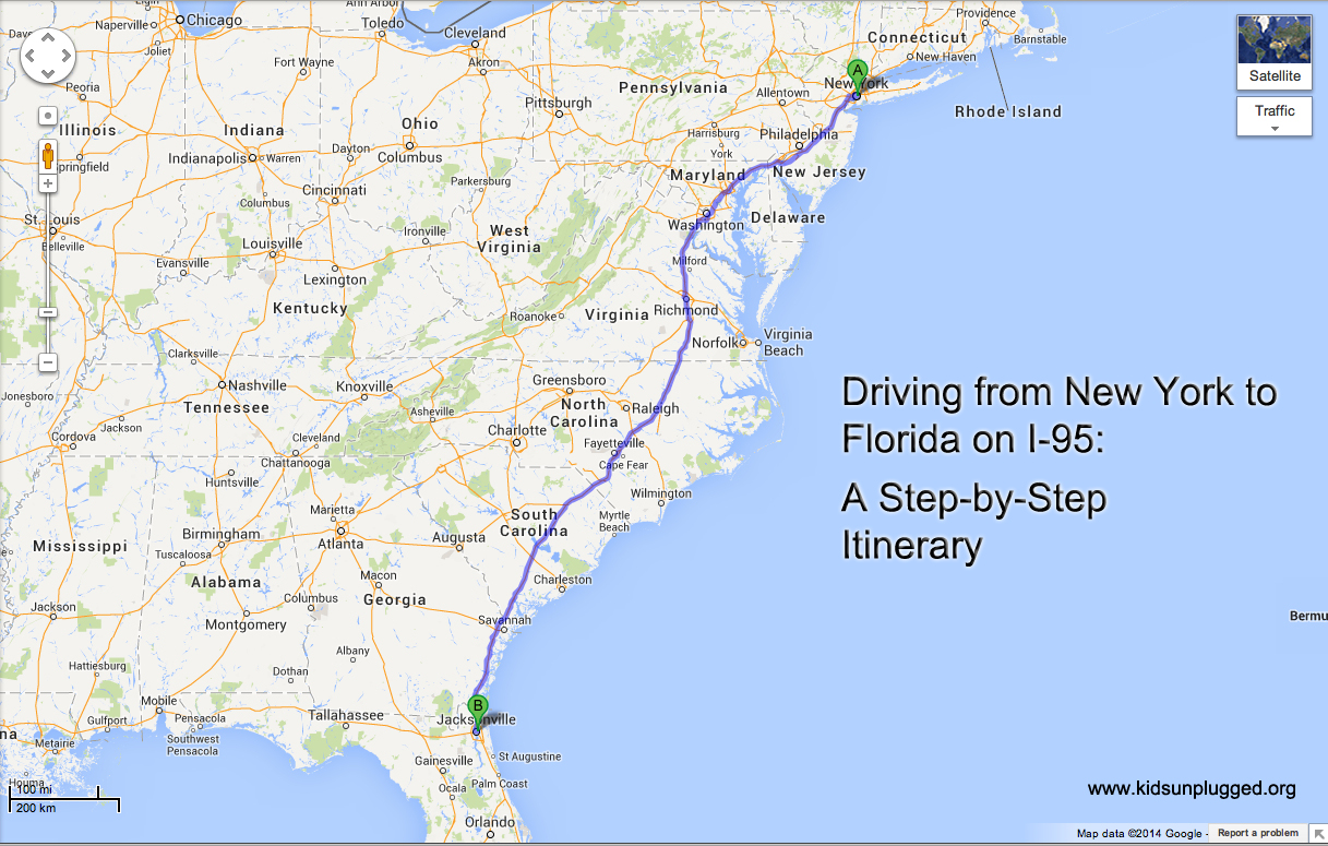 Driving From New York To Florida A Step By Step Itinerary Kids
