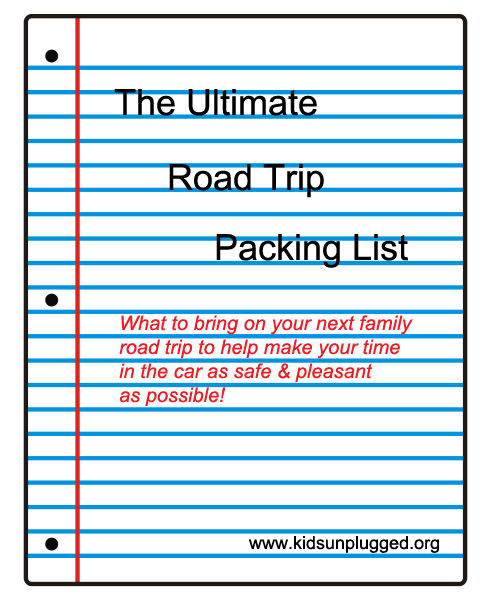 checklist for packing
