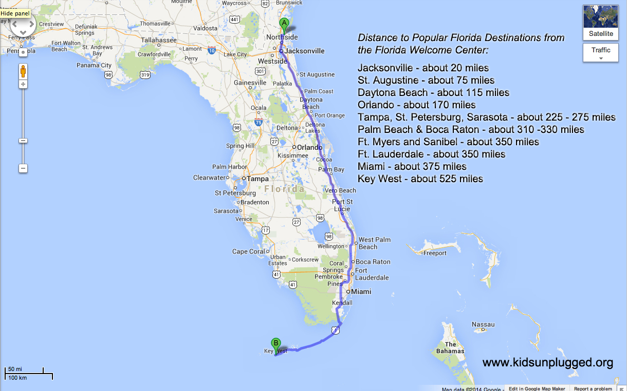 driving from new york to florida - a step-by-step